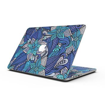 Floral Blues - MacBook Pro with Retina Display Full-Coverage Skin Kit