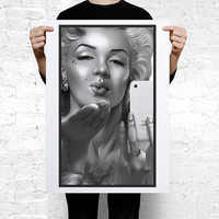 Marilyn Monroe tattooed iPhone Large Wall Art Print Poster A2