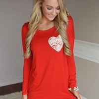 You Had Me At Hello Top ~ Red