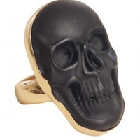 Onyx Skull Cocktail Ring - Rings - Jewelry   GYPSY WARRIOR