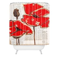 Irena Orlov Red Perfection Shower Curtain