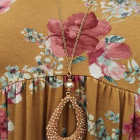 Take The Long Way Necklace: Gold