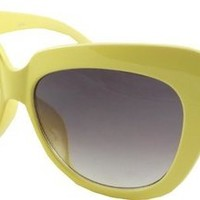 50's Florida Style Sunglasses - Retro Pastel Colours - 50's Yellow
