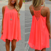 Women's Fluorescent Chiffon Sun Dress