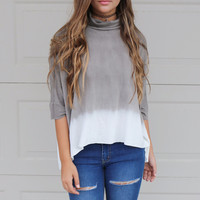 Above The Clouds Tie Dye Turtleneck Top