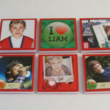One Direction Note Pads Set of 6 - Excellent Party Favors - Harry Louis Liam Niall Zayn - Set #5