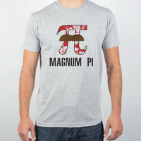 Magnum Pi-Unisex Heather Grey T-Shirt