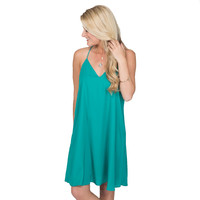 Find Your Path Shift Dress In Emerald