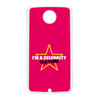 Celebrity Hater White Hard Plastic Case for Google Nexus 6 by Chargrilled