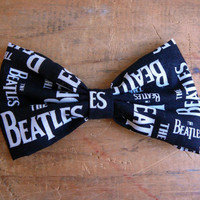 Beatles Bow Tie Clip On Men's Clip on Bow Tie Teen Unisex Bow Tie The Beatles Bow Tie Beatles Accessories Retro Out of Print Fabric