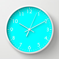 Aqua Wall Clock by Beautiful Homes