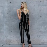 Nelly Pocketed Striped Jumpsuit