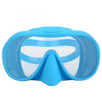 Diving Swimming Mask Anti-Fog Swimming Glasses Foldable Large View Tempered Swimming Glass Scuba Snorkel Diving Mask Goggles