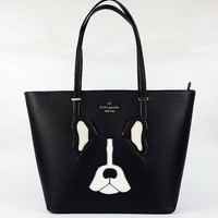 New Arrival Kate Spade Fashion Women Black Whtie Dog Style Handbag