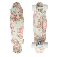 Floral Graphic Printed Mini Cruiser Longboard