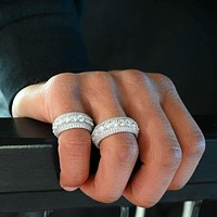 5 Layer Men's Diamond Band Ring