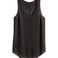 Linen vest top - from H&M
