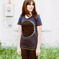 Women's ECLIPSE tshirt - graphic tee for women - astronomy shirt for her by Blackbird Tees