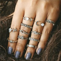 11 Pc Midi Finger Rings