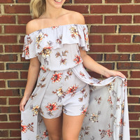 Play That Song Romper- Maxi Dress - Lilac