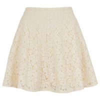 Cream Lace Skater Skirt - Skirts - Clothing - Topshop