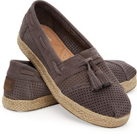 ASH SUEDE PERFORATED WOMEN'S ALPARGATA HIGH ROPE