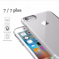 new Ultrathin TPU case for iPhone 7 Plus case Brand phone cover For iPhone7 plus Transparent Slim back case cover