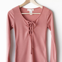 Thermal Lace Up Top