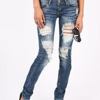 Torn Up Skinnys   Ripped Jeans at Pink Ice