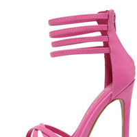 On the Prowl Fuchsia Ankle Strap Heels