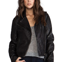 Soia & Kyo Janelle Leather Jacket in Black from REVOLVEclothing.com