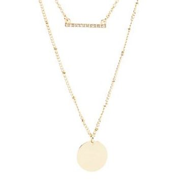 GEOMETRIC SHAPES LAYERING NECKLACES - 3 PACK