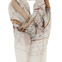 Map Print Scarf - Scarves - Bags & Accessories - Topshop