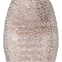 Rosaria Grey Sparkle Web Lace Mini Skirt
