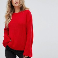 Brave Soul Mode Fisherman Jumper With Exaggerated Sleeve at asos.com