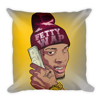 Money Talks (16x16) All Over Print/Dye Sublimation Fetty Wap Couch Throw Pillow Insert & Pillow Case/Cover