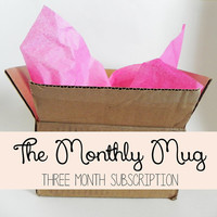 The Monthly Mug - 3 month subscription to one hand-painted mug a month!