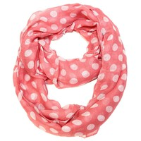 Polka Dot Infinity Scarf Choose: Turquoise or Coral
