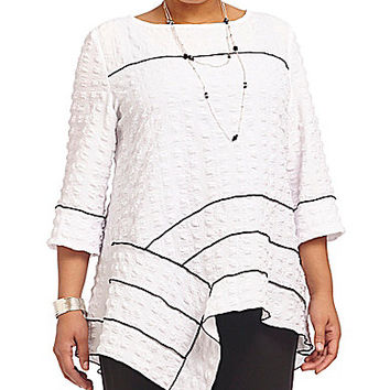 IC Collection Plus Pucker Tunic - White