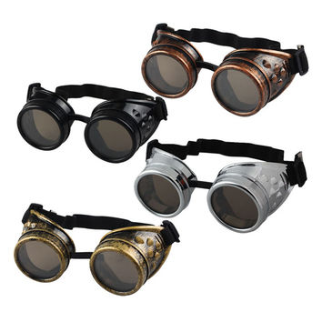 NEW Vintage Victorian Style Steampunk Welding Goggles 4 Colors Free Shipping