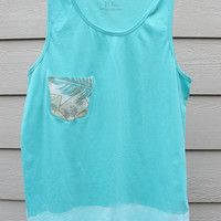 The Bombie Surf Dipped Mens or Womens Tank  Pocket