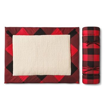 Adam Lippes for Target Travel Dog Bed - Red & Black Plaid