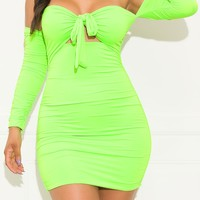 Unconditional Mini Dress Neon Green