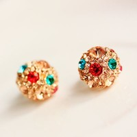Colorful Crystal Ball Earrings