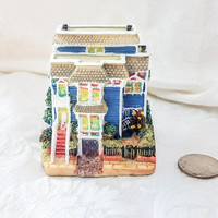 Vintage Governor's Mansion 3 Inch Miniature Historic Building by International Resourcing Services, Resin Train Village Liberty Falls
