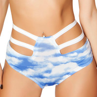 Cloud High-Waisted Strapped Booty Shorts