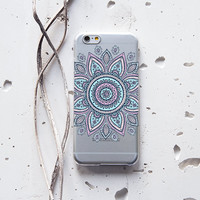 iPhone 6 Case Floral iPhone 6s Case Silicone iPhone 5 Case Samsung Galaxy S6 Case iPhone 6s Plus Case Samsung Note 5 Case Mandala Flower 119