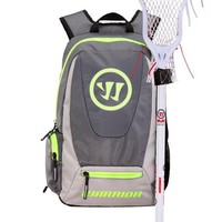 Warrior Jet Pack Tripper Backpack - Grey/Neon Yellow | Lacrosse Unlimited