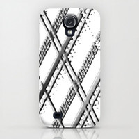 Samsung Galaxy S4 Case - Gray Painted Plaid - unique Samsung Galaxy S4 Case, hipster Samsung Galaxy S4 Case