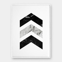 Chevron Wall Art, Marble Prints, Printable Poster, Black Marble, Modern Decor, Scandinavian Poster, Abstract Prints, Geometric Art Chevron